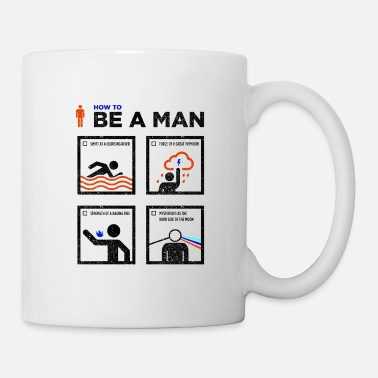 how to be a man - Mug