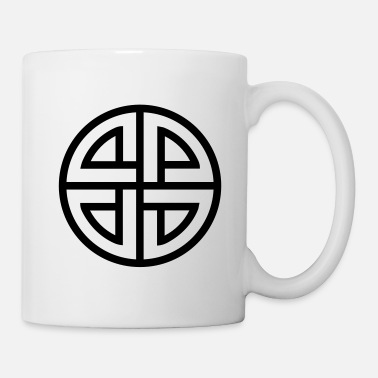 Celtic Shield Knot, Protection, Four Corner, Norse - Mug