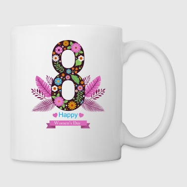 womens day 8 march HAPPY - Coffee/Tea Mug