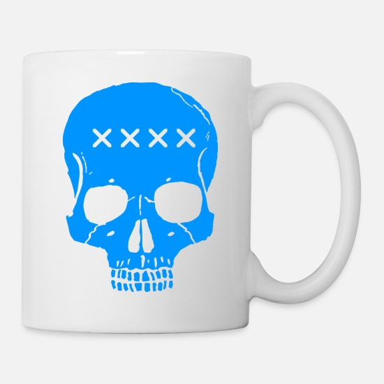 Pirate Mugs & Drinkware - skull - Mug white