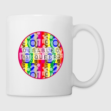 Disabled Queer Mens T Shirt - Coffee/Tea Mug