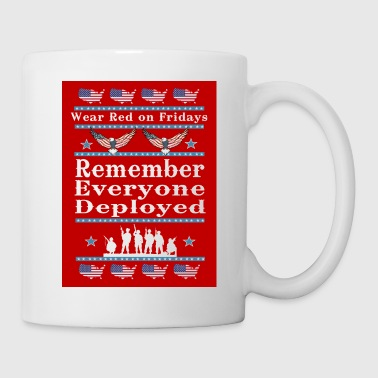 Wear Red on Fridays Support Our Troops - Coffee/Tea Mug