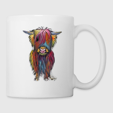 Scottish Highland Cow By Shirley MacArthur - Coffee/Tea Mug