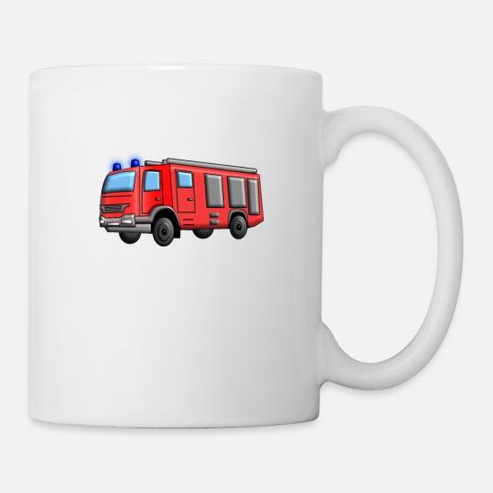 Truck Department Coffeetea Fire Brigade White Mug O0w8vNnm