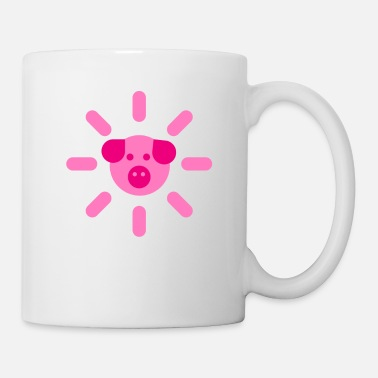 Chinese Pig piggy lucky piglet gift curly tail sweet pig - Mug