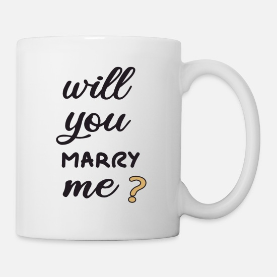 Proposal Mugs & Drinkware - Will you marry me? - Mug white