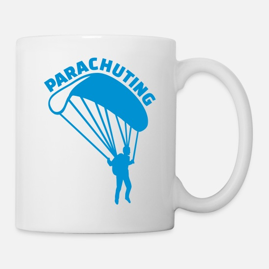 Skies Mugs & Drinkware - Parachuting - Mug white