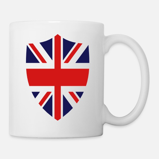 British Mugs & Drinkware - British Shield - Mug white