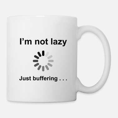 Geek I'm Not Lazy - Just Buffering (Black) - Mug