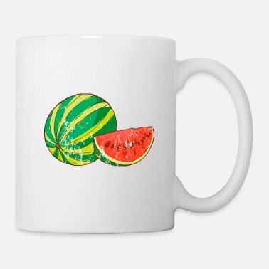 Garden Retro Vintage Grunge Style Watermelon - Coffee/Tea Mug