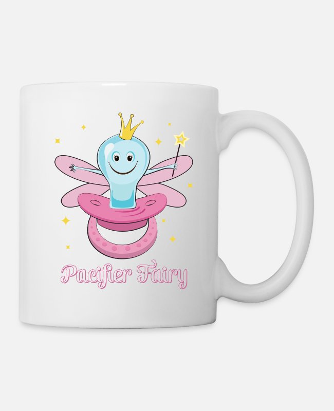 Fairy Tale Figure Mugs & Cups - Paci Fairy Pacifier Fairy Illustration For Girls - Mug white