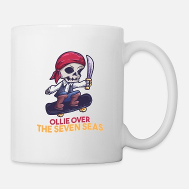 Pirat Skateboard skeleton pirate saying gift - Mug
