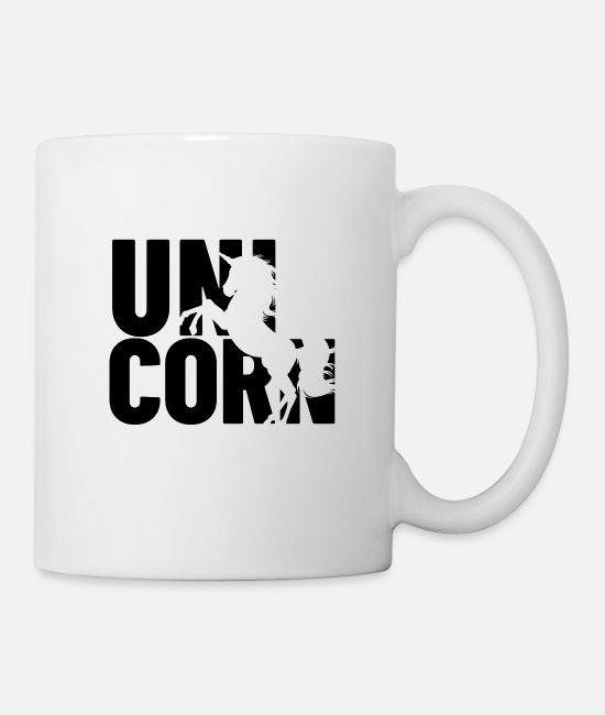 Fairy Tail Mugs & Cups - unicorn shadow - Mug white