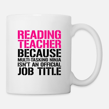 Books Reading Teacher Ninja Funny Teacher T-shirt - Mug