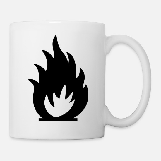 Cool Mugs & Drinkware - Fire Gas - Mug white