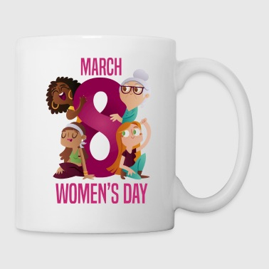 womens day 8 march GIRL POWER - Coffee/Tea Mug
