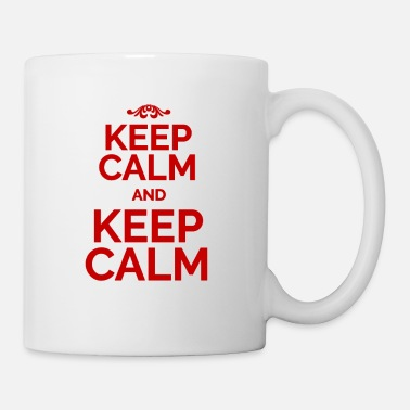 Keep Calm Keep Calm and Keep Calm red - Coffee/Tea Mug