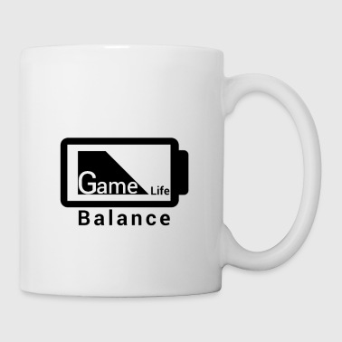 League Of Legends game life Balance Battery Design black - Coffee/Tea Mug