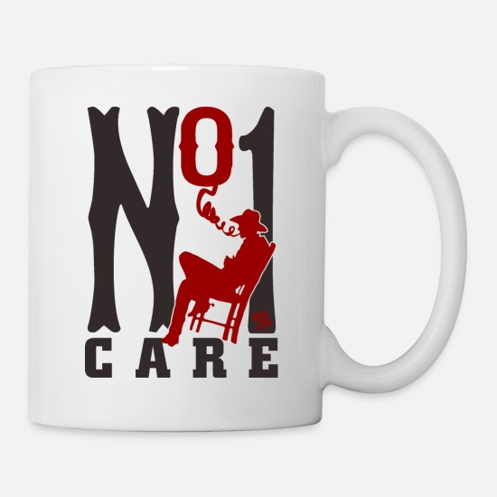 Care Mugs & Drinkware - NO ONE CARE - Mug white