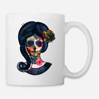 Sugar Skull Day Of The Dead Girl Design - Mug