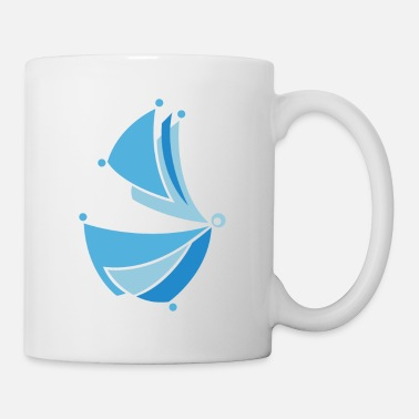 Stylized abstract butterfly - Mug
