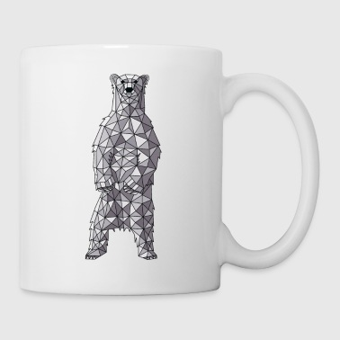 Polar Geometric Polar Bear - Coffee/Tea Mug
