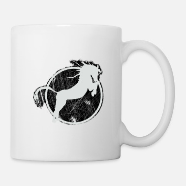 Equitation Horse riding Equestrian sport stud jockey kiss - Coffee/Tea Mug