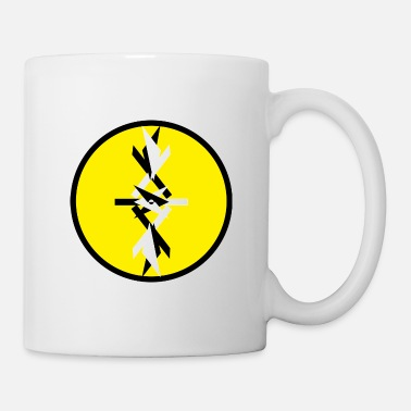 The Ying Yang Abstract(yellow background) - Mug