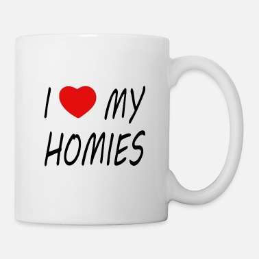 Red Heart i love my homies with heart - Mug