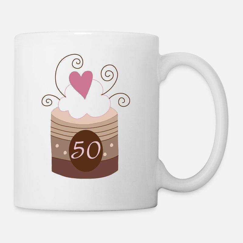 50th Birthday Cake Design Mug