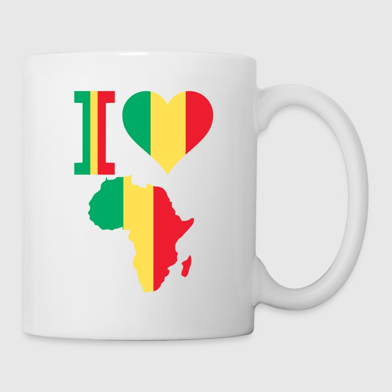 I Love Africa Mali Flag - Coffee/Tea Mug