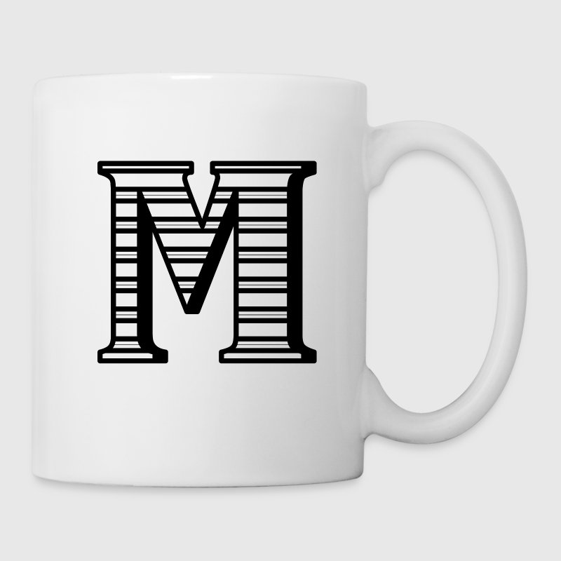 Personalized M Initial - Coffee/Tea Mug