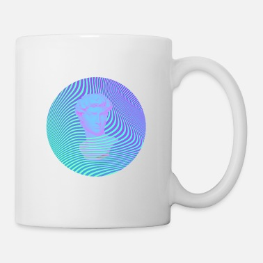 Rome Vaporwave Sculpture Abstract Stripes - Mug
