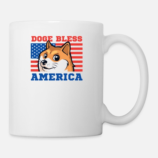 Bless You Mugs & Drinkware - Doge Bless America - Mug white