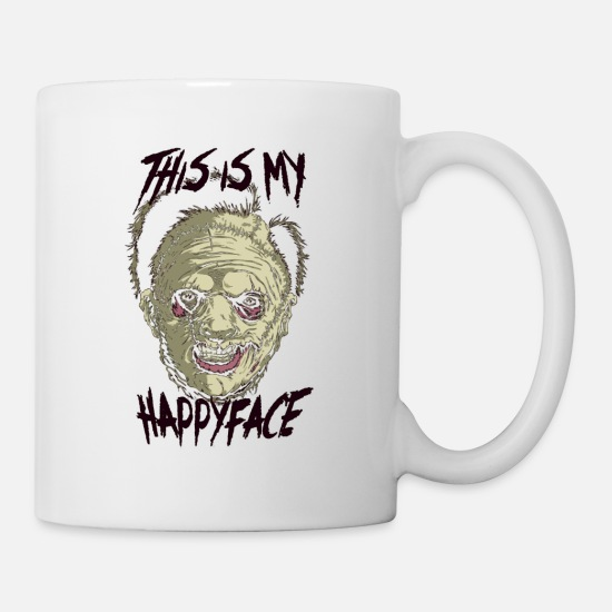 Birthday Mugs & Drinkware - This Is My Happy Face - Mug white