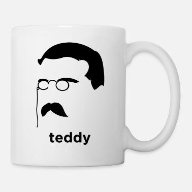 Teddy Bear Vector Teddy Roosevelt Vector Art American Superman - Mug dbe99415002a