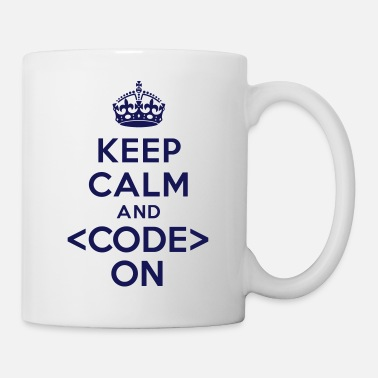 Keep Calm Keep calm and code on - Coffee/Tea Mug