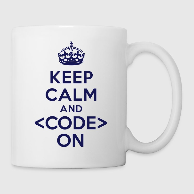 Keep calm and code on - Coffee/Tea Mug