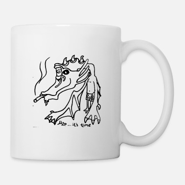Hippie dragon drawing art 420 present idea - Coffee/Tea Mug