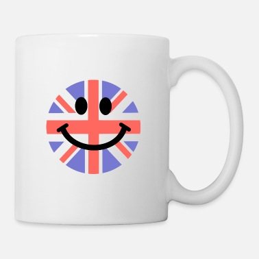 British-flag &amp British Flag Smiley Face - Mug