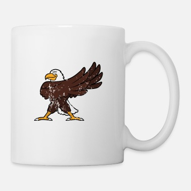 Funny Retro Vintage Grunge Style Dabbing Dab Sea Eagle - Coffee/Tea Mug