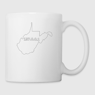 West Virginia 127.0.0.1 Home Computer Nerd IP Address - Coffee/Tea Mug