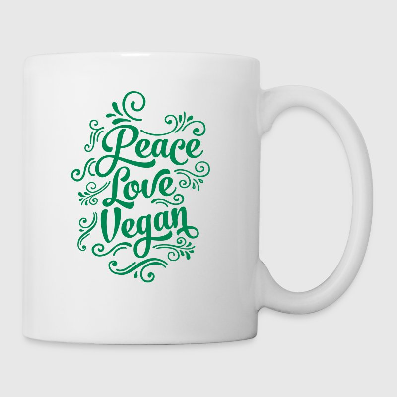 Love Peace Vegan - Coffee/Tea Mug