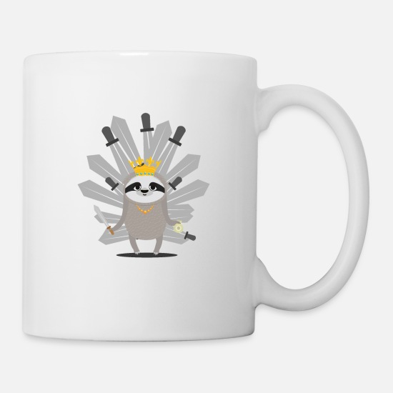 Regina Mugs & Drinkware - Medieval Sloth King with swords gift - Mug white