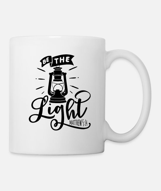 Therapy Mugs & Cups - Be the Light - Mug white
