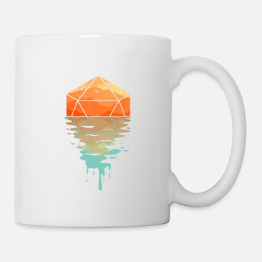 Selection Rippling d20 - D&D Dungeons and dragons dnd - Mug