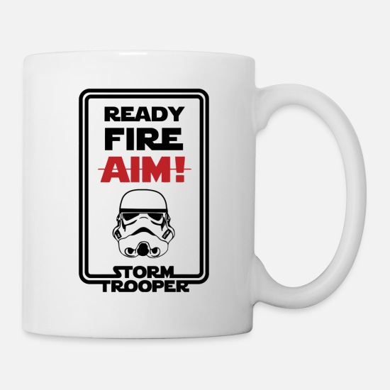 Fire Extinguisher Mugs & Drinkware - Ready Fire Aim - Mug white