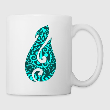 Maori Hei Matau Fishhook Tatoo Tribal Green - Gift - Coffee/Tea Mug