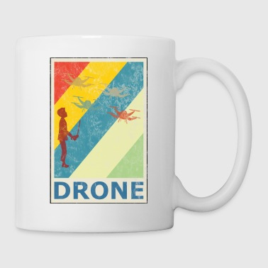 Retro Vintage Evolution Quadcopter Quadrocopter - Coffee/Tea Mug