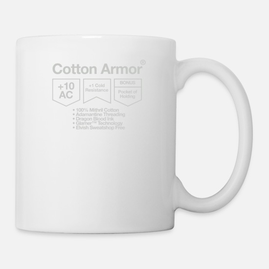 Cotton Mugs & Drinkware - Cotton Armor - Mug white